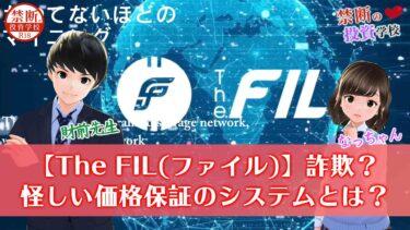 【The FIL(ファイル)】詐欺なの?ファイルコインの価格保証の怪しいシステムとは?検証授業!