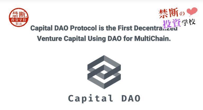 【キャピタルダオプロトコル(Capital DAO Protocol)】詐欺なの?怪しい仮想通貨?